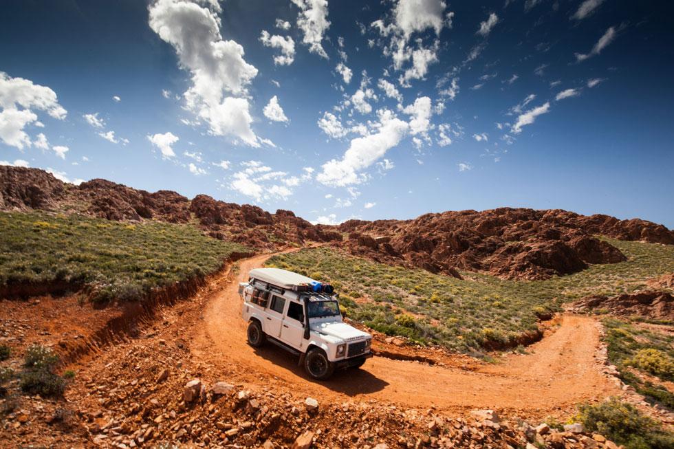 Landschaftbild Marokko Defender 110