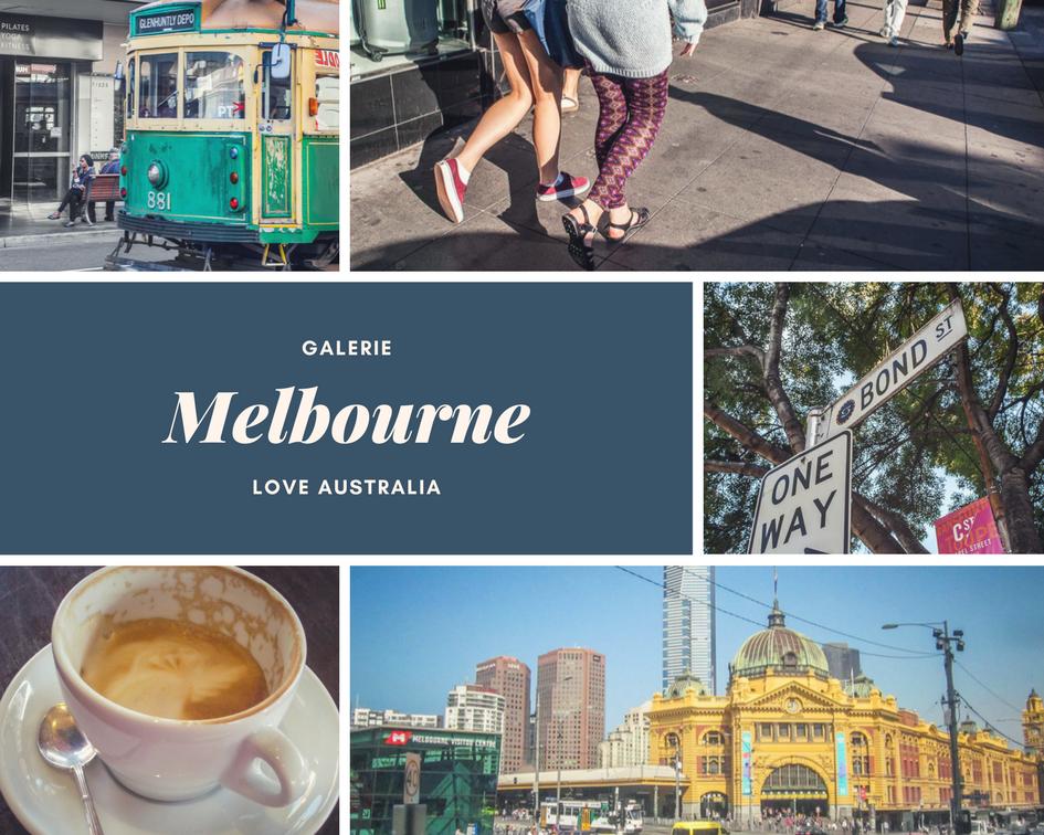 Australien Stadt Melbourne